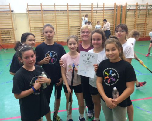 4. helyen végzett a Scheiber lány floorball csapata a Zugló Kupán